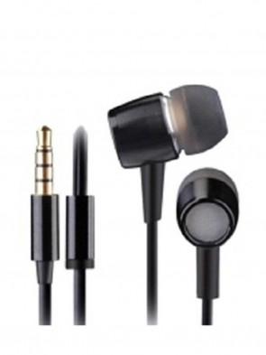 A4 Tech MK-750-Black Metallic Earphone With Microphone Black