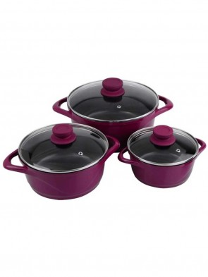 Noah Non-Stick Sauce Pan with Glass Lid, 2Ltrs (Induction & Gas compatible) 0014