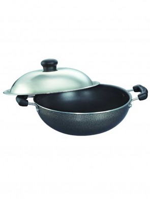 Noah Non-Stick Sauce Pan with Glass Lid, 1.5Ltrs (Induction & Gas compatible) 0016