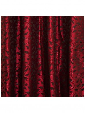 Door Curtain 7 ft 2 Pcs Maroon 0013