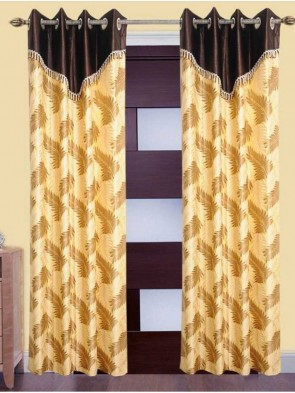 Door Curtain 7 ft 2 Pcs Maroon 0015