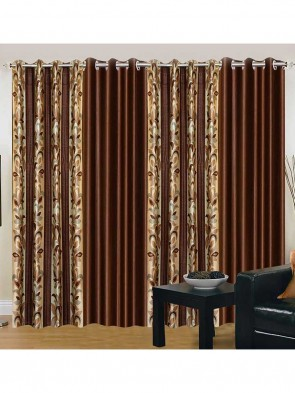 Door Curtain 7 ft 2 Pcs Maroon 0019