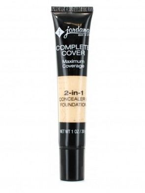 Jordana complete cover 2-in-1 concealer & foundation 30g (01 Fair Beige) - USA 00117