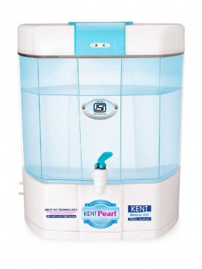 Kent Pearl 8-Litre Mineral RO+UV Water Purifier - White and Sky Blue