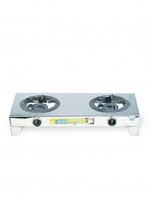 Topper Double NG S-205 SS Non- Auto Gas Stove  80927
