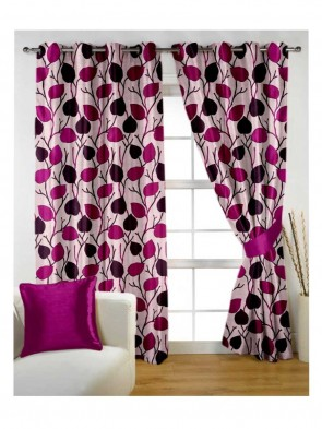 Door Curtain 7 ft 2 Pcs Maroon 0017