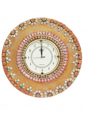 AJANTA Brown Round Plastic Analogue Clock 0012