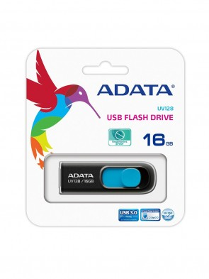 A DATA UV128 16GB BLUE PEN DRIVE