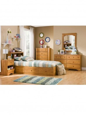Wooden Bed 0017