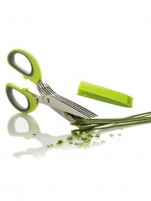 5 Blades Stainless Steel Kitchen Scissor- Green