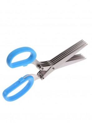 5 Blades Stainless Steel Kitchen Scissor- Blue